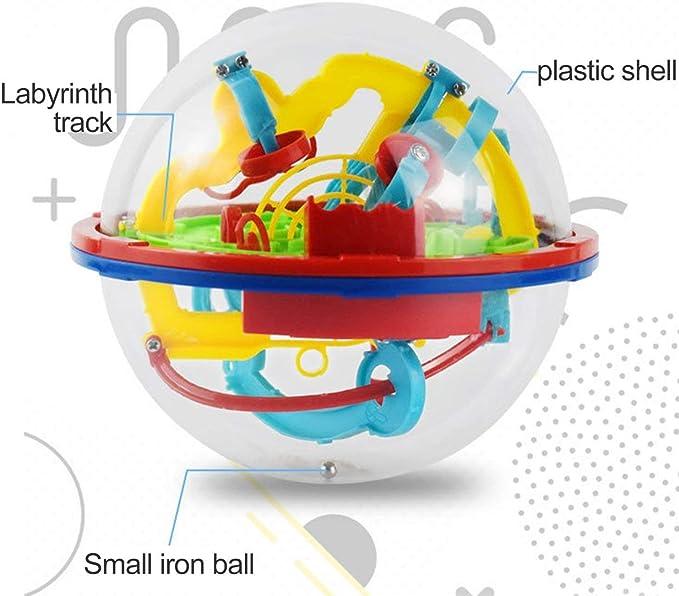 HONGIRT Puzzle 3D Magic Maze Ball 299 Nivel Perplexus Intelecto mágico Juego de Rompecabezas de mármol IQ Balance Juguetes educativos para niños (Color: Amazon.es: Juguetes y juegos