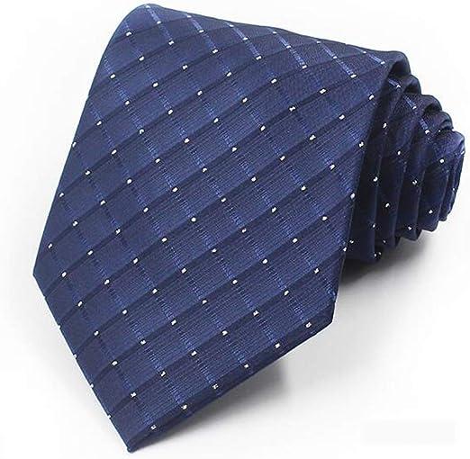Corbata de Hombre/Tejido de poliéster/Azul/Traje de Negocios/Trabajo Profesional/Camisa Corbata 10cm LJJOZ (Color : B): Amazon.es: Hogar
