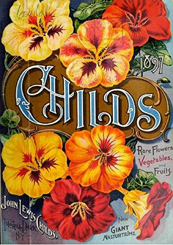 Rare 1897 Antique (Childs' Rare Flowers, Vegetables, and Fruits: 1897 Trade Catalog)