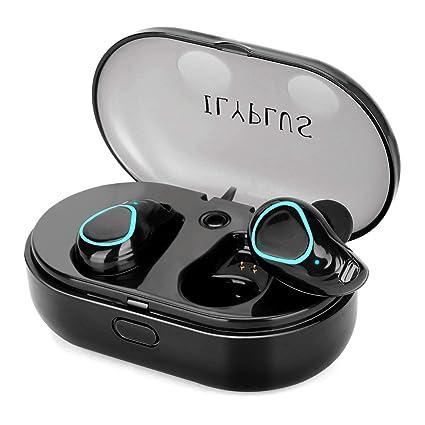 Auriculares Bluetooth, ILYPLUS Auriculares Inalámbricos Hi-Fi Estéreo Mini in Ear IPX5 Auriculares CVC