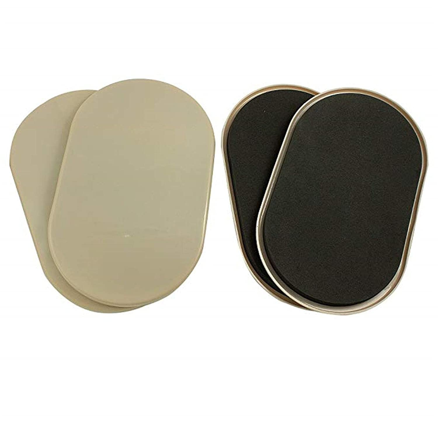 Reusable Oval Carpet Furniture Sliders 3.5x 6 inches 4-Pack in Resealable Bag (4PC)