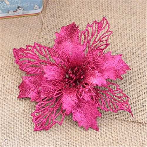 Christmas Decorations,vmree Xmas Party Tree Ornament Bowknot Festival Supplie for Outdoor Indoor Home Decor (Hot Pink)