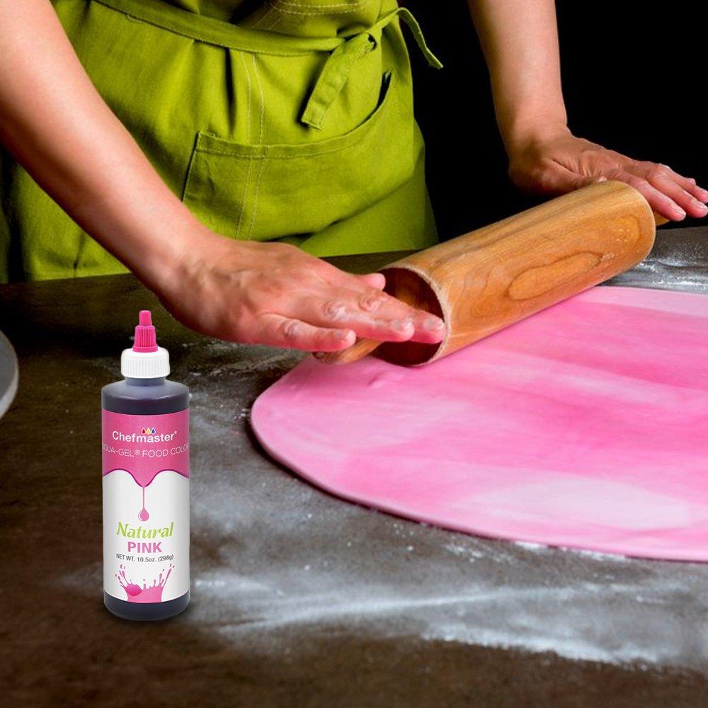 Chefmaster Liqua Gel All Natural Food Color, 10.5 oz Pink Liquid Gel Food Coloring for Baking, Pink Food Color Drops for Easter Eggs, Easter Cake Decorating, Pink Easter Treats & Egg Coloring by Chefmaster (Image #7)