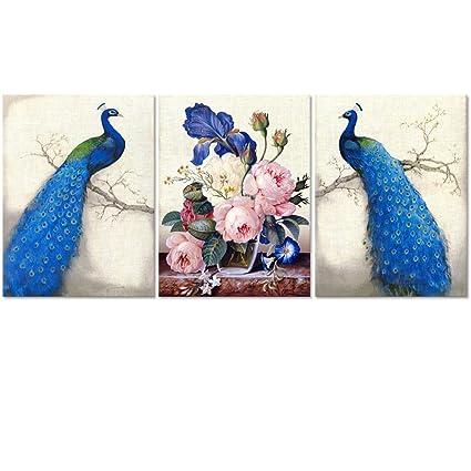105829842f Amazon.com: Peacock Canvas Art Prints, Peacock Canvas Wall Art Home Wall  Decal, Canvas Art with Frame, Ready Hanging On, Animal Peacock Wall Art  (Modern ...
