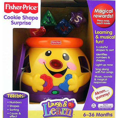 Fisher Price Cookie - Fisher Price - Cookie Shape Surprise w Music, Sounds & Lights - Baby Smartronics! (2001 Mattel)