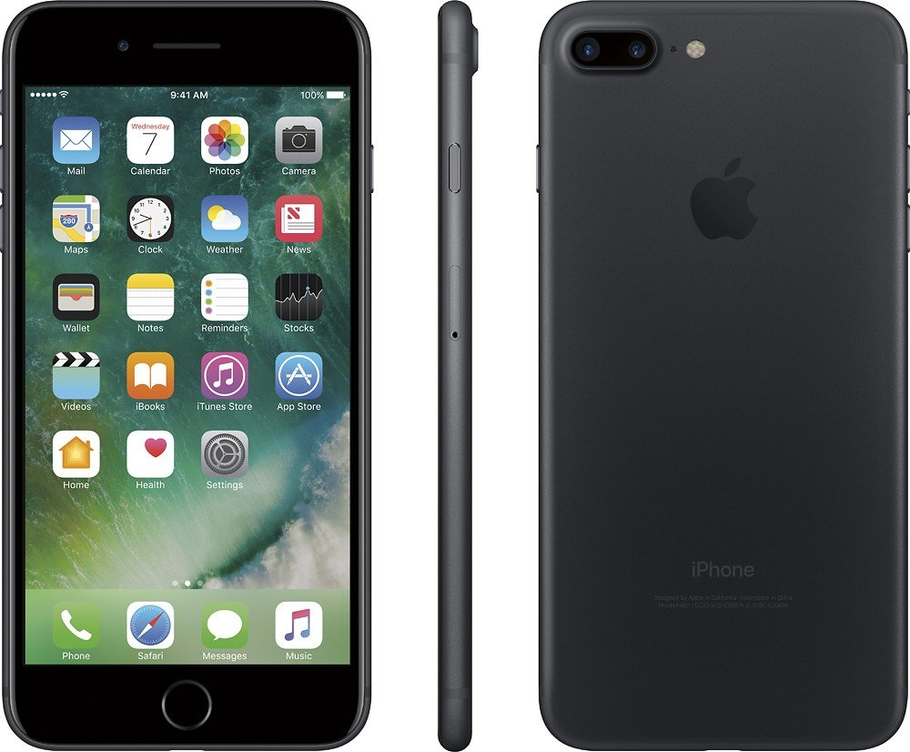 Apple iPhone 7 Plus 32GB (GSM Unlocked) 5.5-inch 12MP iOS Smartphone - Black (Renewed)