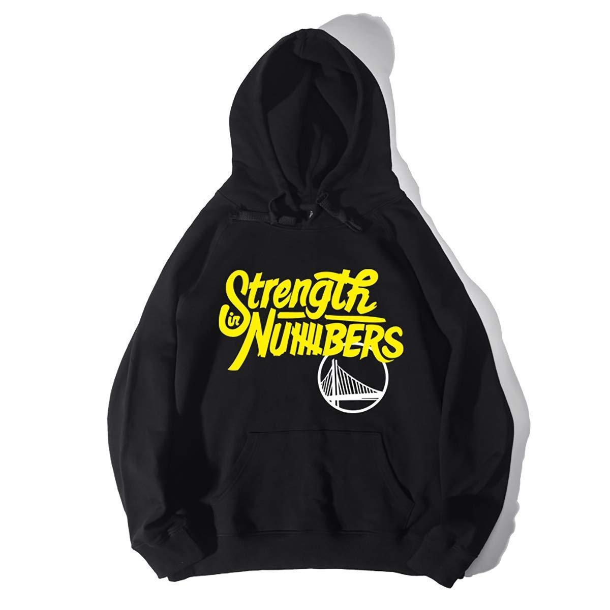 Men es Hooded Sweatshirt, Autumn and Winter Warm Letter Print Pullover Sports Loose Cotton Baseball Uniform, schwarz, L [Energy Class A],schwarz,S