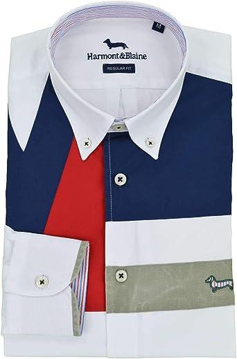 Harmont & Blaine – Camisa blanca parche CRD666 M 006912 100-31269: Amazon.es: Ropa y accesorios