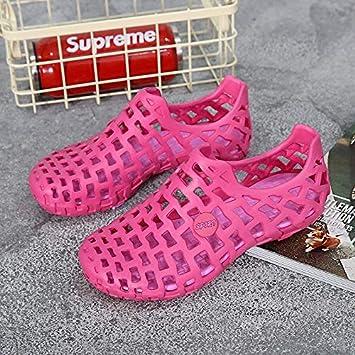 ZWH Par Nuevo Ultraligero Modelos AliExpress Modelos de explosión de Verano Transpirable Zapatos del Agujero Hueco Zapatos de Las Sandalias de Playa de una generación de Grasa: Amazon.es: Electrónica