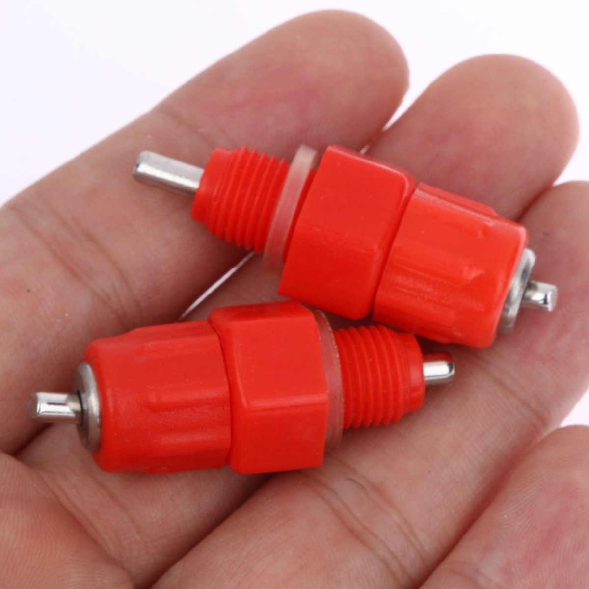Tacoli 50 Pcs Water Cups Nipple Chicken Drinkers Waterer 360 Angle Poultry Supplies Drinking Tools