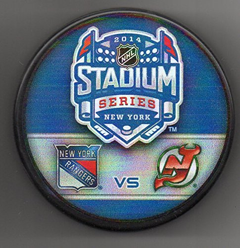 - 2014 Stadium Series New York Rangers New Jersey Devils Yankee Stadium NHL Hockey Puck + FREE Cube