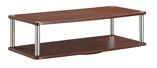Convenience Concepts Designs2Go 2-Tier TV Swivel Board for Flat Panel TV s Up to 32-Inch or 60-Pounds, Cherry