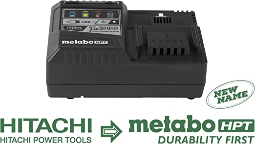 Metabo HPT UC18YSL3M 18V Lithium-Ion Battery Rapid Charger with USB Port