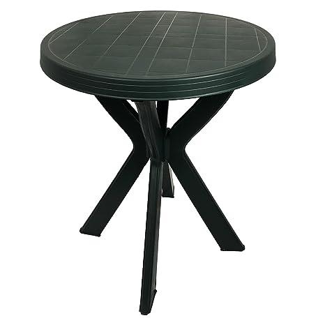 Tavolo Da Giardino Verde.Bistro Tavolo Tavolo In Plastica O70 Cm Verde Rotondo