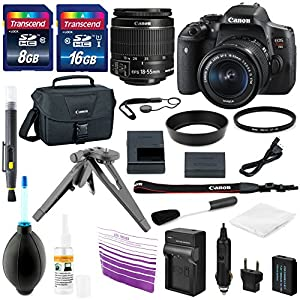 Canon EOS Rebel T6i 24.2 MP DSLR Digital Camera Bundle with Accessories (16-Items)