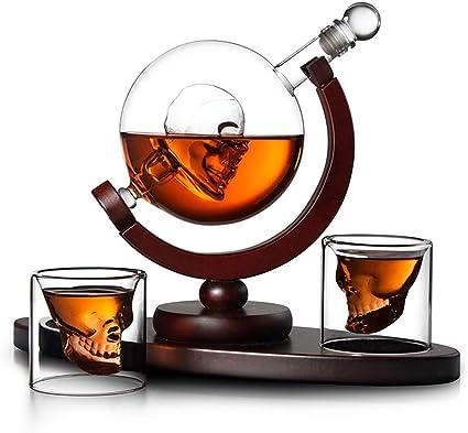 B&H-ERX Whisky la Jarra, Uso cráneo Head Cup 2 vidrios de ...