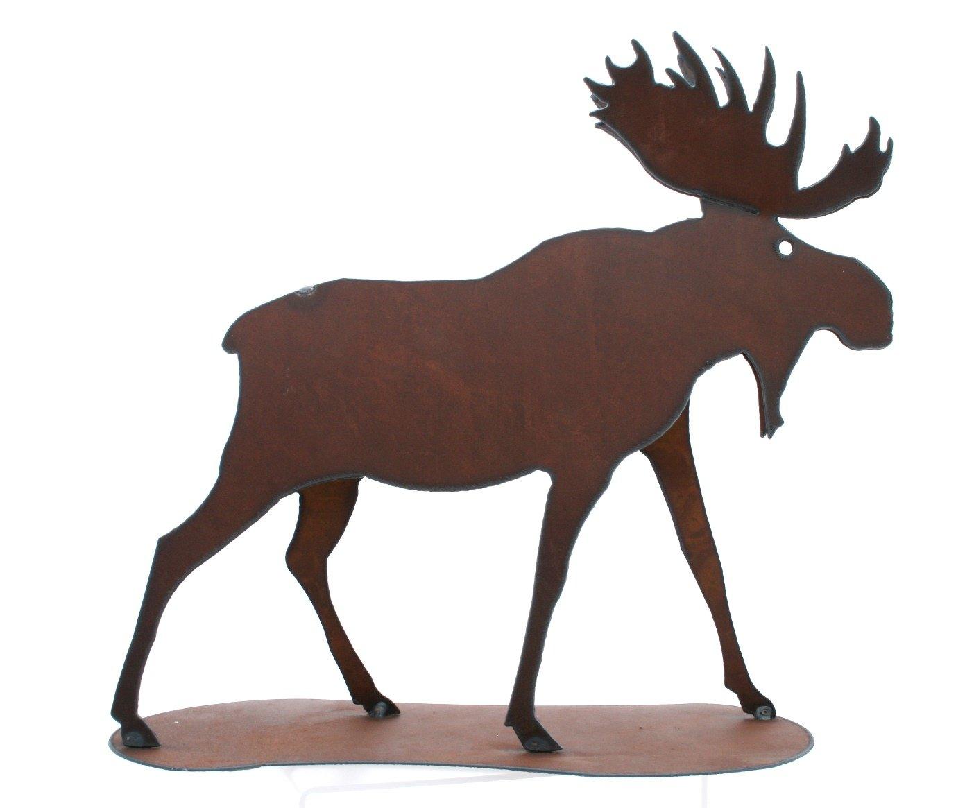 Amazon.com: Moose Statue Rustic Home Decor Metal Moose Rack Moose ...