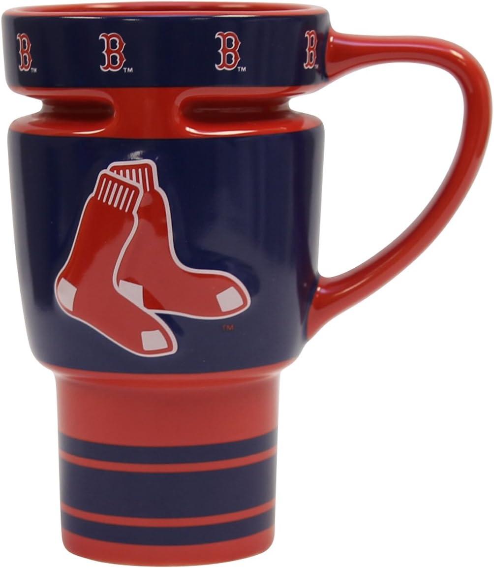 MLB Boston Red Sox Boelter 16 Ounce Sculpted Travel Mug