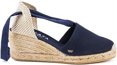 Viscata - Fabricacion Artesanal en España - Escala Alpargatas Clasicas para Mujer, Tacon de cuña y Suela Blanda: Amazon.es: Zapatos y complementos