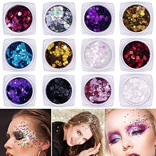 Frugent 10 Sets Mermaid Face Gems Glitter - Rhinestone Rave Festival Face  Jewels ae86fe526c70