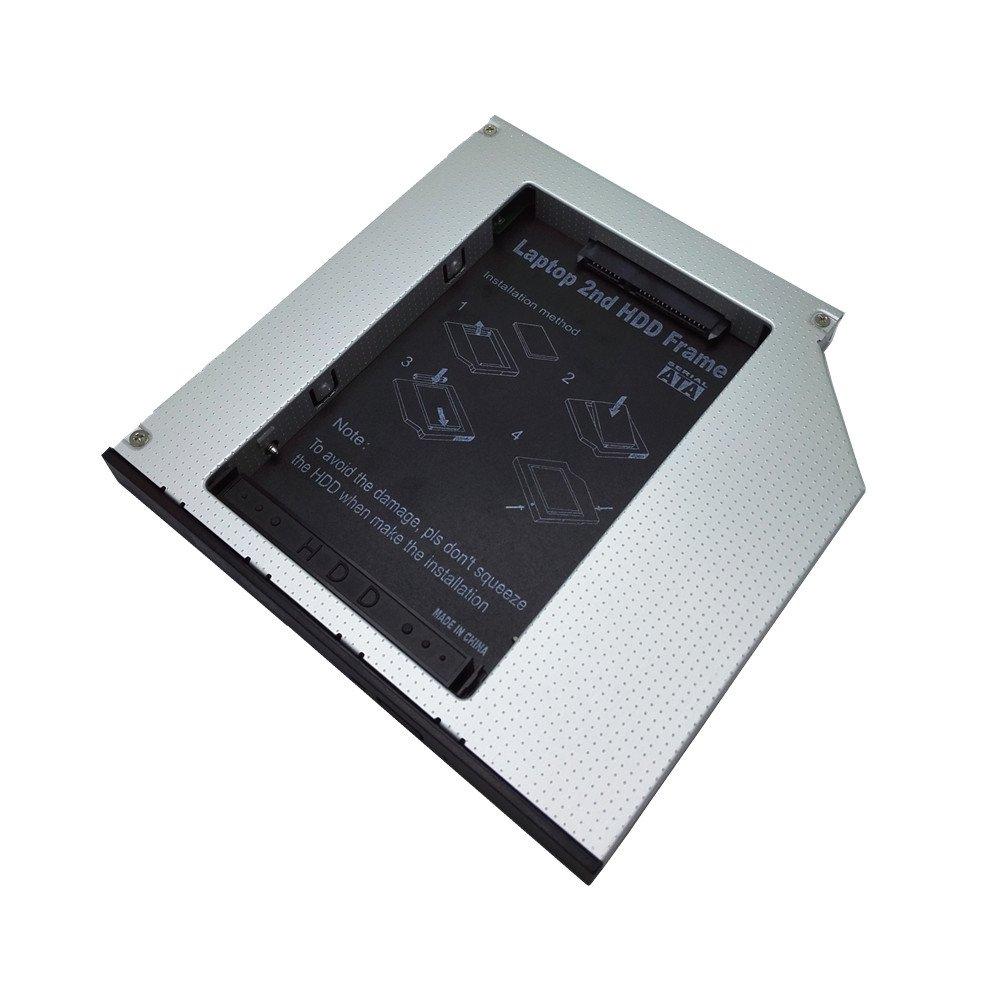 12, 7 mm ó ptico Bay 2 nd SATA HDD disco duro Caddy bandeja de memoria conector PATA aluminio 2 nd HDD SATA a IDE caso bahí a ó ptica 12.7mm SATA interface hard drive ST12.7mm-2.5I