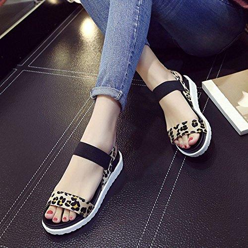 Moda Envejecido marrón it SKY Sandalias wear Damas 5cm Mujeres Sandalias to Planas De Height Comfortable Platform De Cuero Zapatos UW0qnAH0Ix