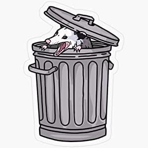 "Lplpol Stickers Opossum Trash Cat Gift Decorations 5.5"" Vinyl Stickers, Laptop Decal, Water Bottle Sticker"