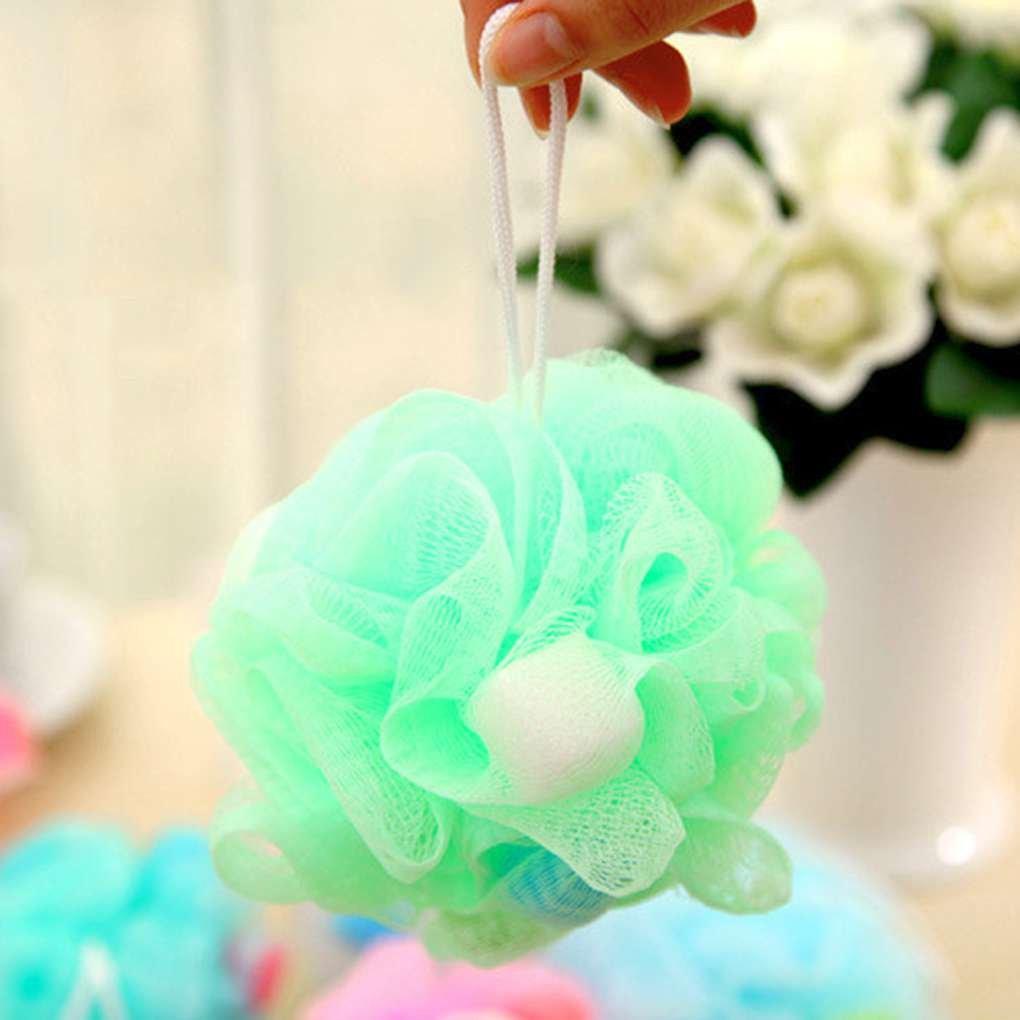 Babysbreath17 Bunte Badezimmer-K/örper-Mop Blumen-Kugel-Dusche-weichen Schwamm Bubbles K/örper Reinigung Waschen Sch/äumende Ineinander greifen-Netz Luffa zuf/ällige Farbe