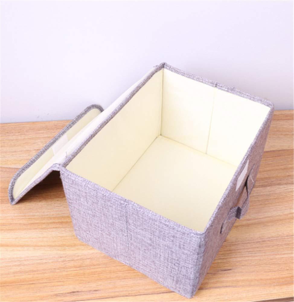 20 16Cm Kleine Graue W/äsche Falten Stoff Aufbewahrungsbox Aufbewahrungsbox Unterw/äsche Bh Socken Finishing Box 26