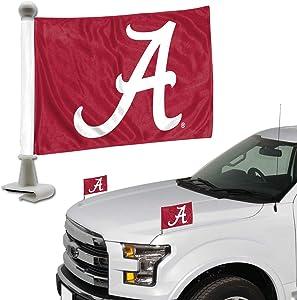 Promark NCAA Alabama Crimson Tide Flag Set 2-Piece Ambassador Style, Team Color, One Size