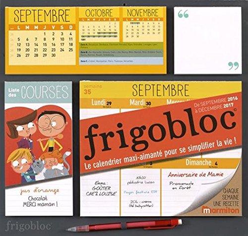 Calendrier Dorganisation Familiale Frigobloc 2017 Sorganiser Na