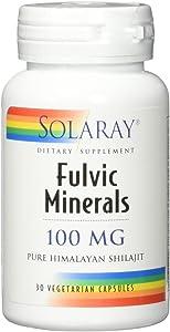 Solaray Fulvic Minerals, Veg Cap (Btl-Plastic) 100mg | 30ct