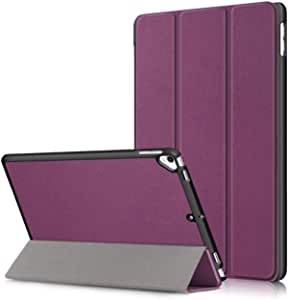 For iPad 10.2 2019 (10.2 inch) - for iPad 7th Generation 2019 Case with Stand, Lightweight Cover Soft TPU Case Back Cover Slim Smart Shell, Auto Wake/Sleep - Purple