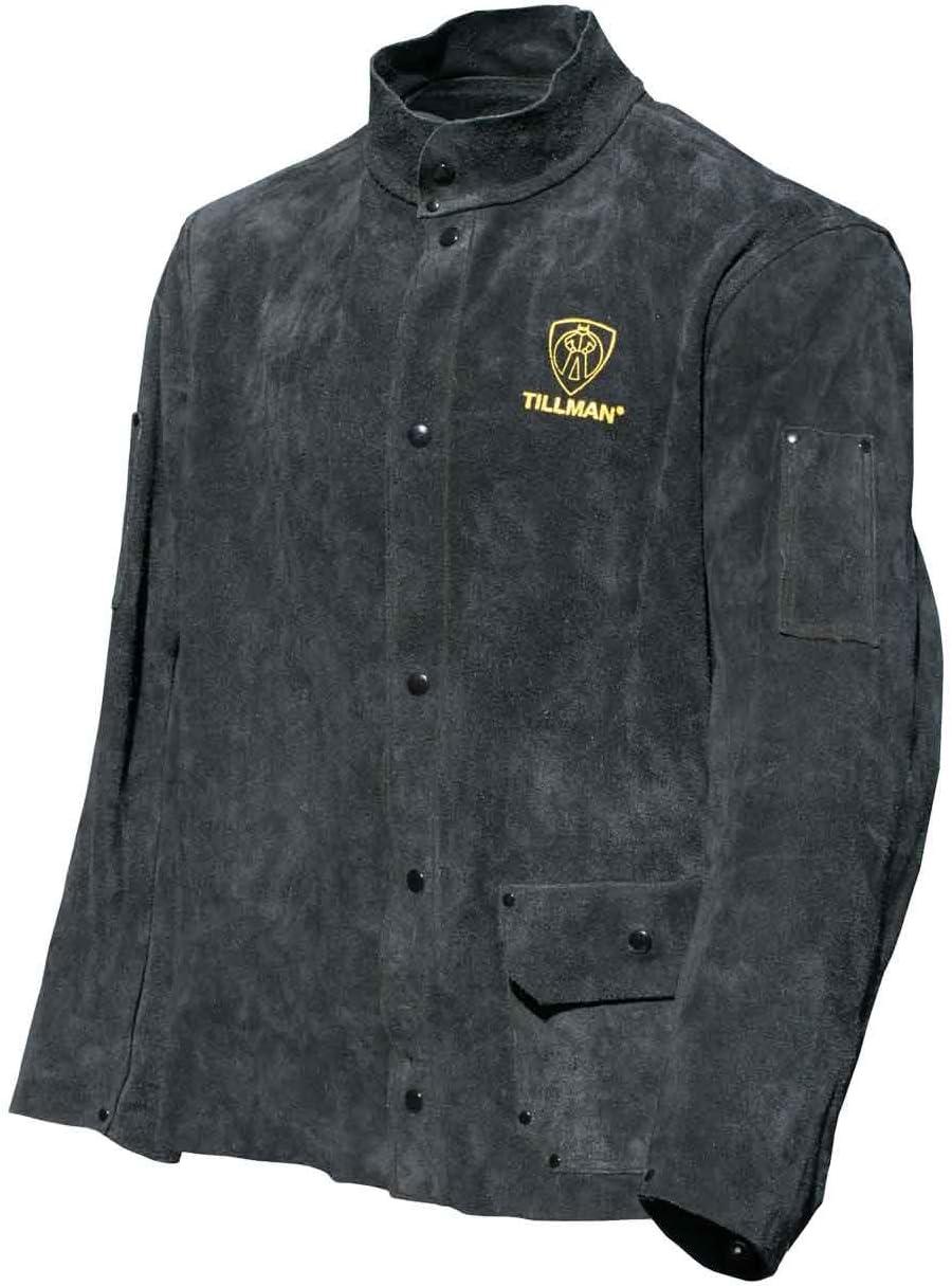"TILLMAN 9230XXL    30/"" Medium Weight Leather Sleeve Weld Jacket"