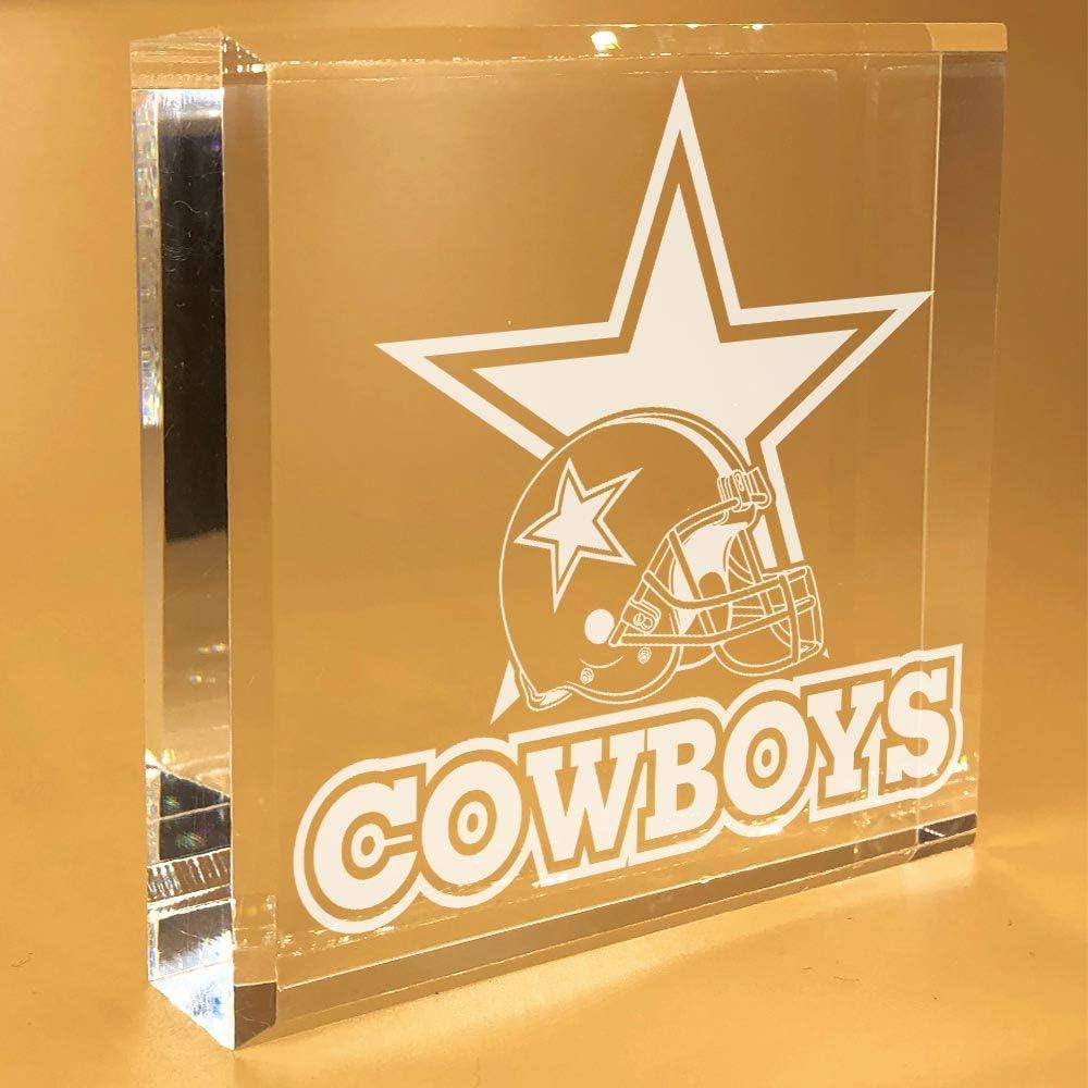 Dallas Cowboys Gifts | For Men | Women | Fans | DAD | Desk Plate | Christmas | Paperweight | Keepsake