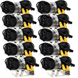 Masione 10 PACK 50 Feet video power cable BNC security camera cable wire cord for cctv surveillance DVR system