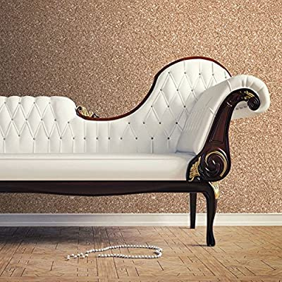 Textured Sparkle Wallpaper - Copper - 701374