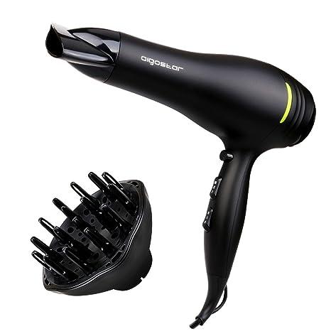 Aigostar Secador de pelo profesional de 2200 watios de potencia con 2 velocidades y 3 ajustes
