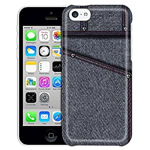 Apple iPhone 5 5s Case, Slim Fit Snap On Cover by Trek Black Jeans Trans Case