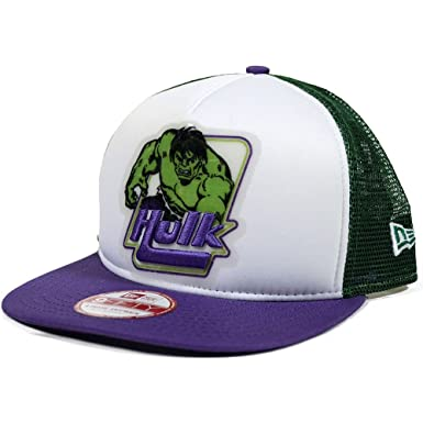c82126f09e198 New Era The Incredible Hulk Throwback Trucker A-Frame 9FIFTY ...