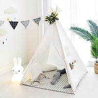 Tree Bud Kids Teepee tält, klassiskt indiskt lektält för barn, vikbart lekhus för inomhus- eller utomhuslek, bomullsduk…