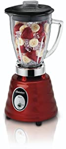 Oster 4270-615 Beehive Blender, 600-Watt, 2 Speed, 6 Cup Glass Jar, Red