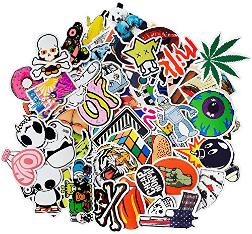 CandyHome 150 Pcs Vinyl Graffiti Stickers Decals for Laptop, Car, Motorcycle, Bicycle, Skateboard, Luggage, Bumper Stickers - Random Sticker Pack