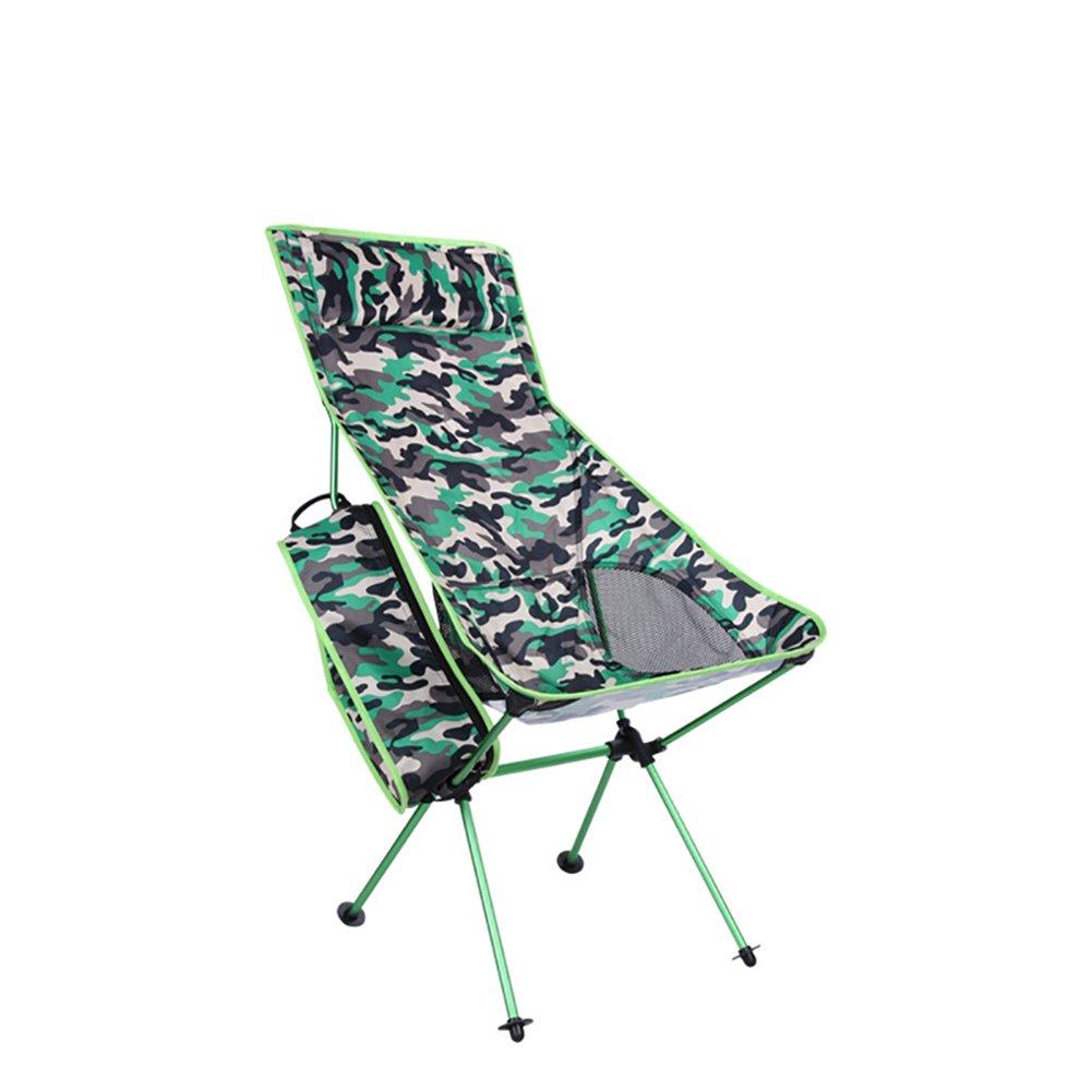 CLEAVE WAVES Outdoor in Lega di Alluminio Camouflage Pieghevole Sedia A Sdraio Multifunzionale Montagna Campeggio Sedia per Il Tempo Libero Sedia Pieghevole,Armyverdecamouflage