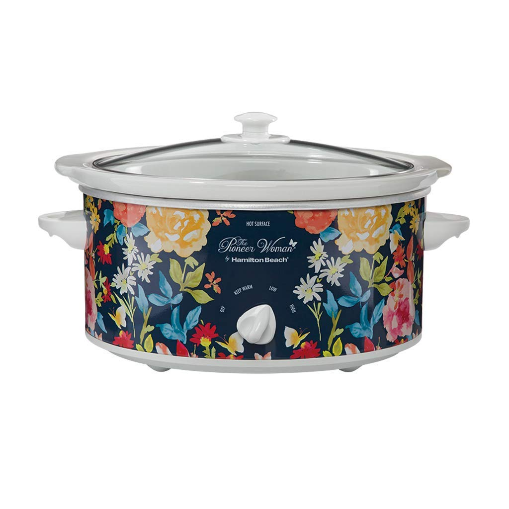 Pioneer Woman 5 Quart Slow Cooker Fiona Floral | Model# 33057 By Hamilton Beach