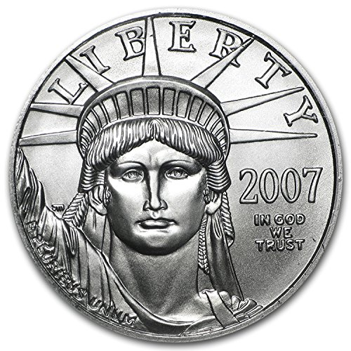 2007 1 2 Oz Platinum American Eagle Bu 1 2 Oz Brilliant Uncirculated