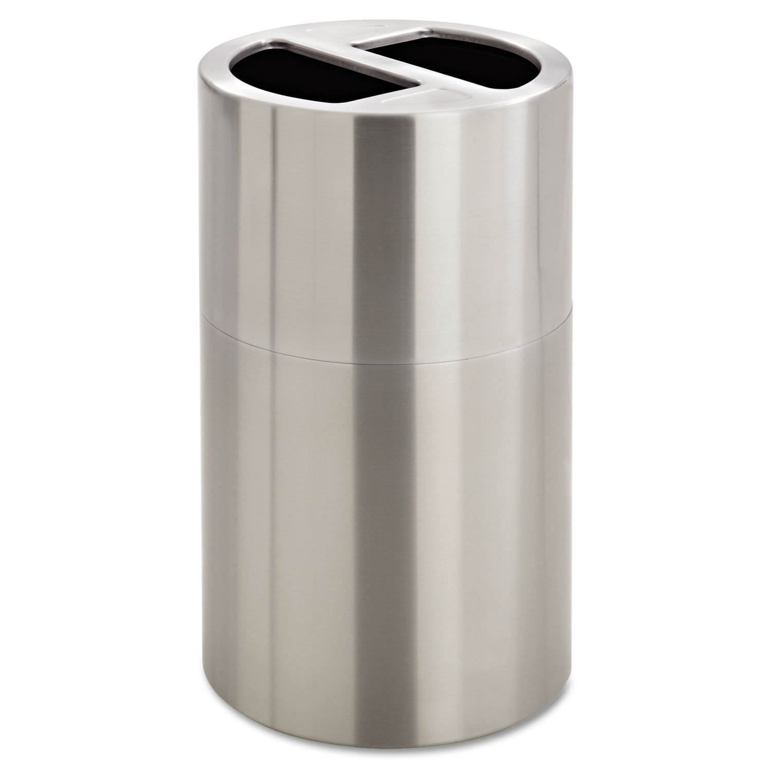 Safco 9931SS Dual Recycling Receptacle 30gal Stainless Steel