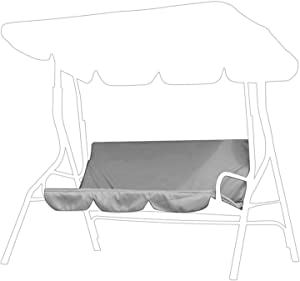 Outdoor Swing Cushion Cover 3 Seater Swing Chair Cushion Replacement Sleeve Swing Seat Pads Cushion Cover Replacement for Patio Garden Yard(Gray)