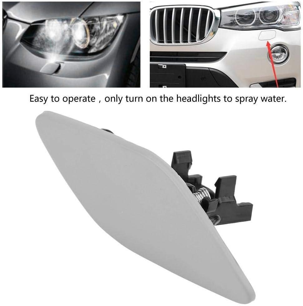 Tarente Rechte Scheinwerfer-Reinigungs Abdeckkappe Lampe Flap Auto Trim Compatible with B-M-W 3-Series E92 E93 6167 7171660