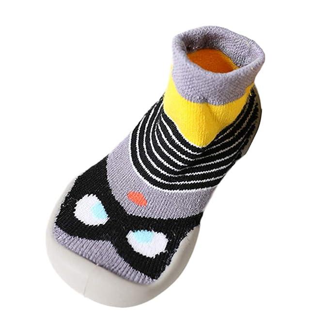 Mitlfuny Niños Niñas Invierno Calentar Suela de Goma Tejer Calcetines de Piso para Recién Nacido Bebé Antideslizantes Dibujo Animado Bebé Medias ...